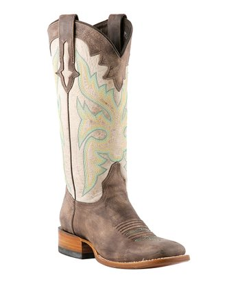 Sanded Café & Natural Cowboy Boot - Women