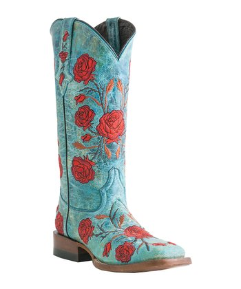 Turquoise Crater Cowboy Boot - Women