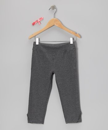 Storm Heather Little Caboose Capri Pants & Hair Tie