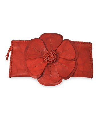 Red Natalie Clutch