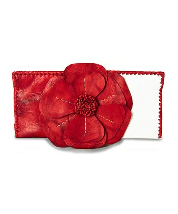 Red & White Natalie Clutch