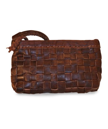 Brown Mina Wristlet