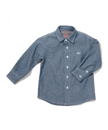 Chambray 'GBF' Button-Up
