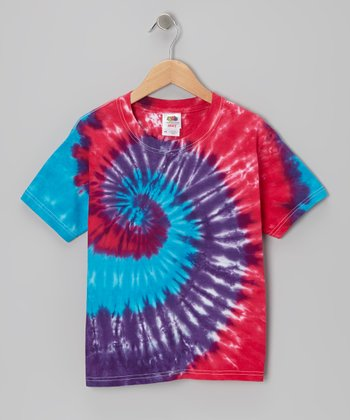 Pink & Purple Tie-Dye Tee - Toddler & Kids