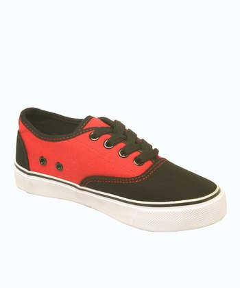 Black & Red Dart Sneaker