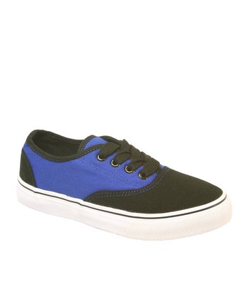 Black & Royal Blue Dart Sneaker