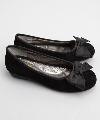 Black Stacy Quilted Ballet Flat