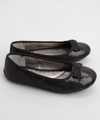 Me Too - Black Utah Sequin Ballet Flat