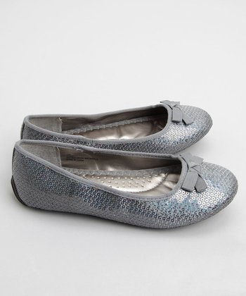 Me Too - Pewter Utah Sequin Ballet Flat
