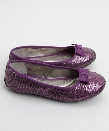 Me Too - Purple Utah Sequin Ballet Flat