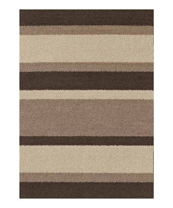 Taupe Stripe Pinnacle Rug