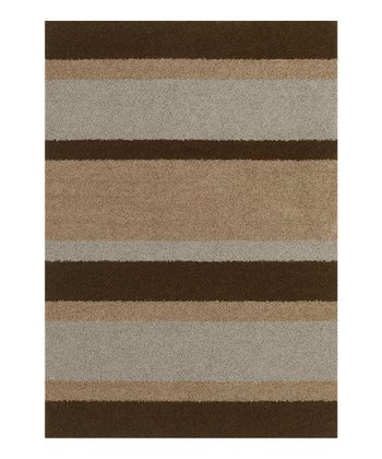 Chocolate Stripe Pinnacle Rug