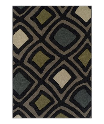 Black Surreal Radiance Rug
