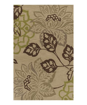 Putty Floral Berkley Wool Rug