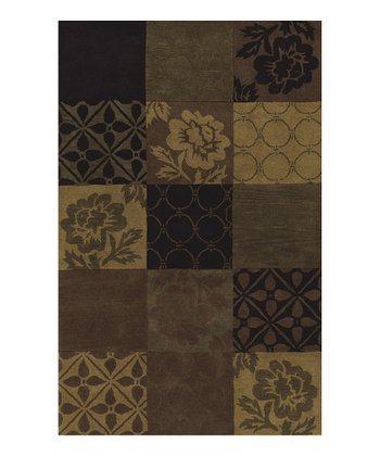 Black Block Berkley Wool Rug