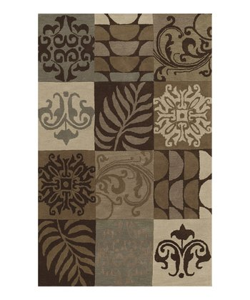 Chocolate Square Berkley Wool Rug