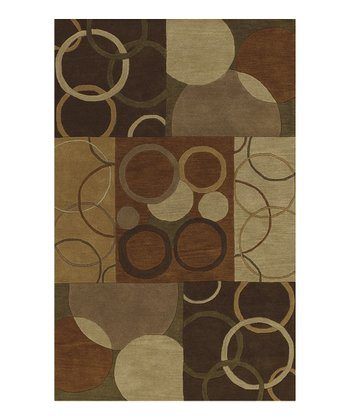 Multicolor Circle Blocks Berkley Wool Rug