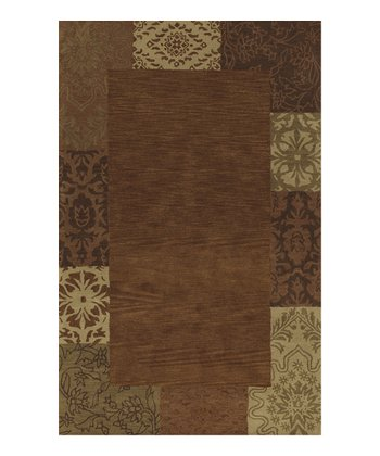 Copper Wide Border Berkley Wool Rug
