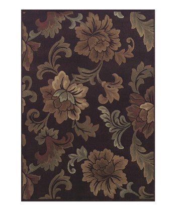 Sable Roses Capri Area Rug