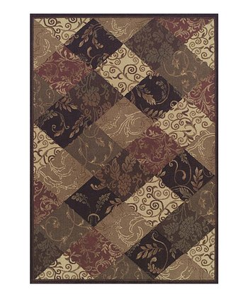 Checkerboard Tendrils Capri Area Rug