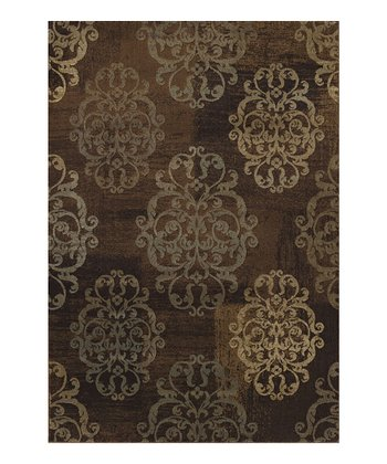 Earth Damask Capri Area Rug