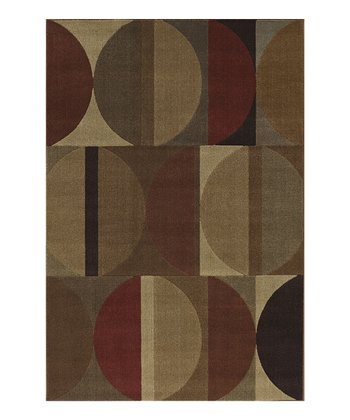 Bisected Circles Capri Area Rug