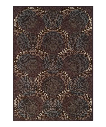 Sable Scallops Capri Area Rug