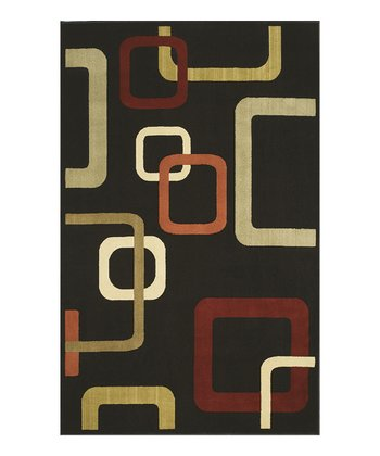 Black Square Carlisle Rug