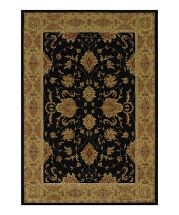 Black & Orange Border Imperial Rug