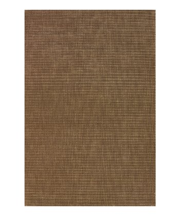 Walnut Zigzag Melrose Wool Rug