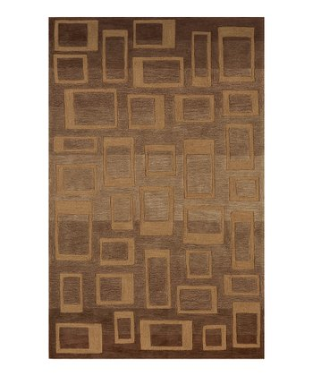 Walnut Squares Studio Rug