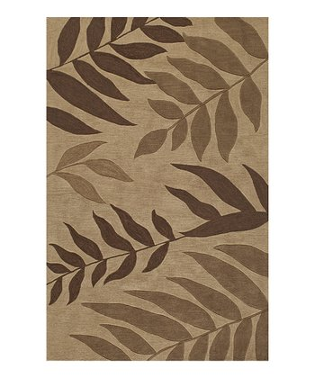 Sand Fern Fronds Studio Rug