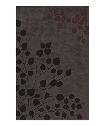 Gray Botanical Studio Rug