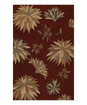 Paprika Spike Flowers Studio Rug