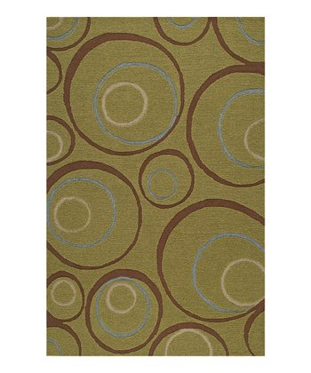 Lime Inner Circle Sanibel Rug