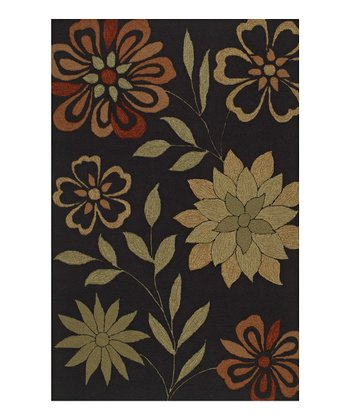 Black Floral Sanibel Rug