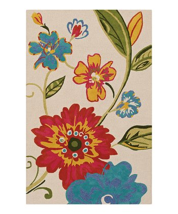 Linen Floral Spray Serendipity Wool Rug