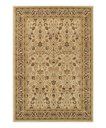 Ivory & Gold Border Wembley Rug