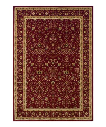 Red & Gold Border Wembley Rug