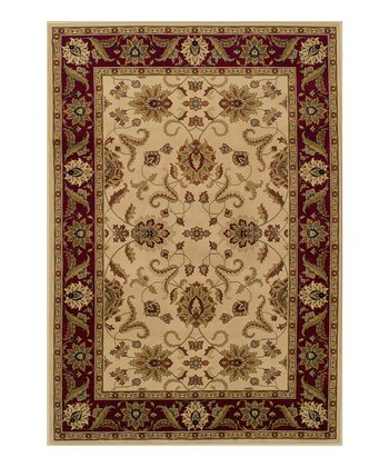 Ivory Border Wembley Rug