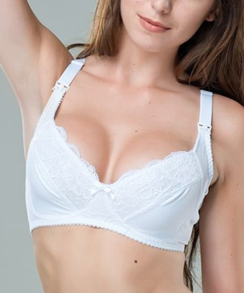 White Soutien Gorge Bra Wireless Maternity & Nursing Bra