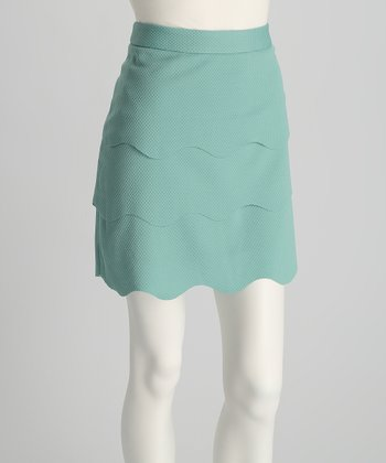 Mint Tiered Skirt