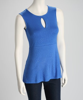 Royal Blue Shimmer Sleeveless Top