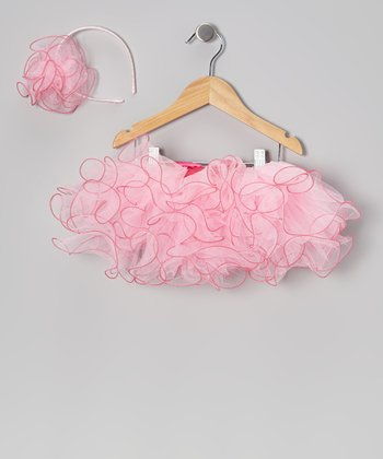 Pink & Hot Pink Fluffy Tutu & Headband - Infant, Toddler & Girls