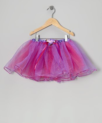Purple & Hot Pink Glitter Tutu - Toddler & Girls