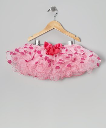 Pink Polka Dot Tutu - Infant, Toddler & Girls