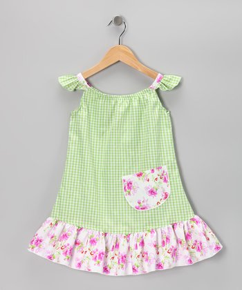 Green Gingham Sundress - Infant, Toddler & Girls