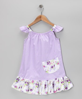 Purple Gingham Sundress - Infant, Toddler & Girls