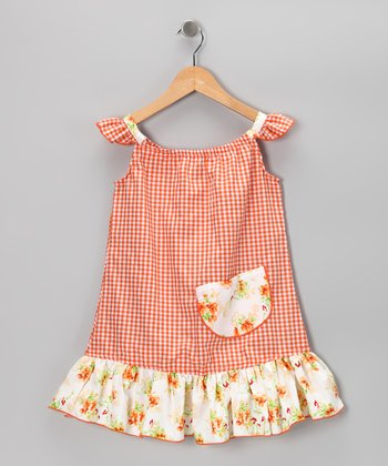 Orange Gingham Sundress - Infant, Toddler & Girls