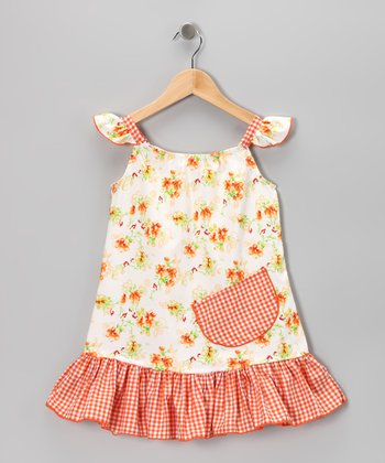 Orange Daisies Sundress - Infant, Toddler & Girls